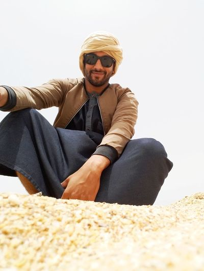 One Man Only Sitting Beach Sand Relaxation Smiling Morocco 🇲🇦 Love To Take Photos ❤ No People Sahara Desert Summer Sea Aboutlife Beach Photography Sky LoveYourSelf ♥ Love Yourself EyeEm