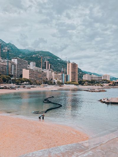 Monaco Beach Water Sky Architecture Cloud - Sky Building Exterior Built Structure Beach Sea Nature Day City Outdoors Sand Building Beauty In Nature