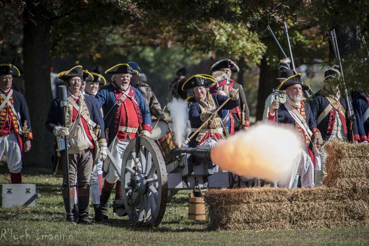 American Revolutionary War Cannon Gunpowder HDR Reenactment