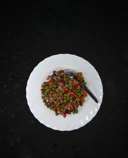 High angle view of salad in plate