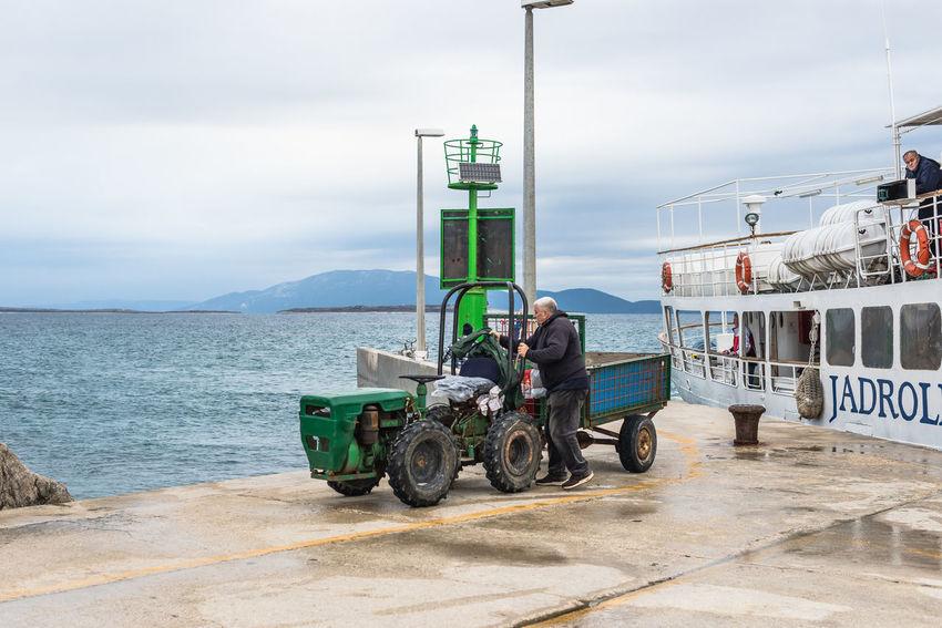 Boat Cloud - Sky Croatia Mali Lošinj Mode Of Transport My Commute My Commute-2016 EyeEm Photography Awards Nautical Vessel Susak Water