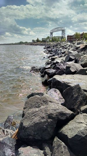 Duluth Minnesota USA Lake Superior The Big Lake Rock Beach Suspension Bridge Sweet Summer Time The North Shore Canal Park Lake Walk