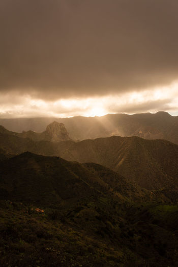 Canary Islands Sunset Rolling Landscape Cloud - Sky Nature Beauty In Nature Scenics - Nature Outdoors No People Last Sunlight