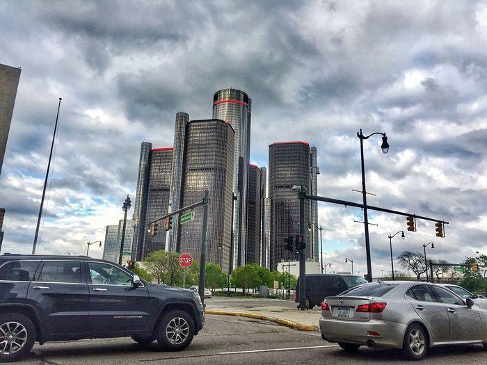 Cloud - Sky Transportation Skyscraper City Downtowndetroit RenCen General Motors  Detroit