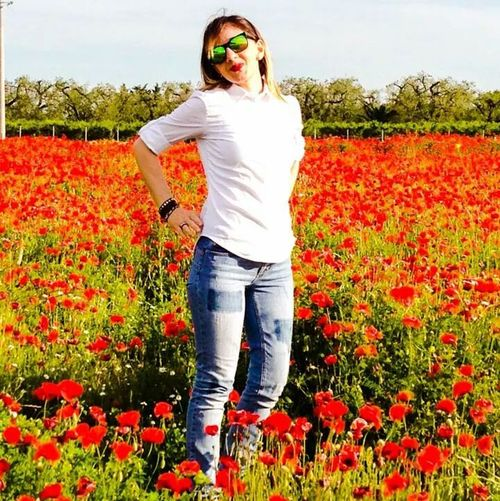 Beautiful Nature Pretty Girl Flower Collection Countryside