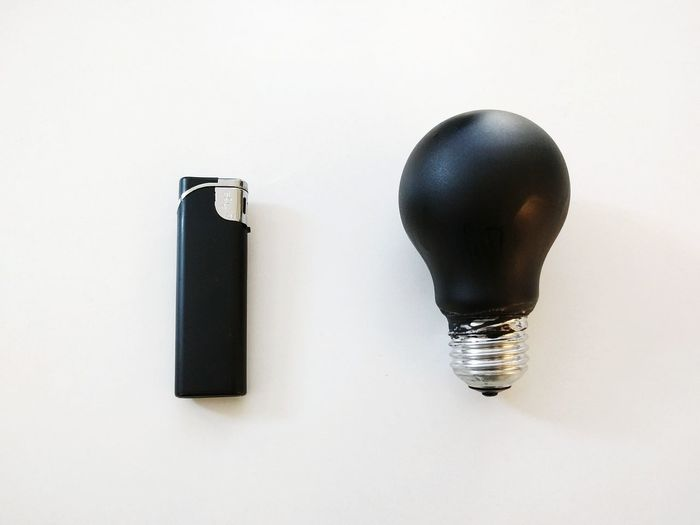 Negative Space Art Black Lightbulb Lighter Light And Shadow Yin & Yang Yinyang
