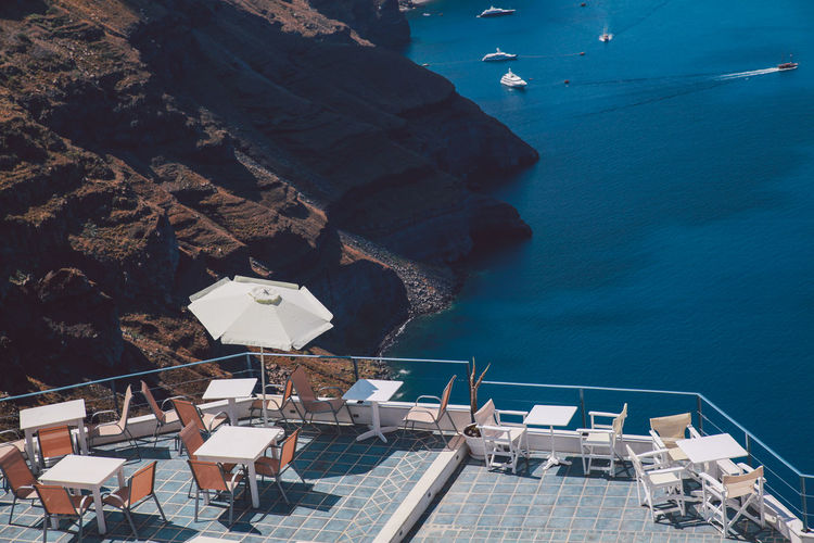 Blue Greece Holiday Island Mountain No People Outdoors Santorini Scenics Sky Summer Sunny Tourism Tranquil Scene Travel Destinations Vacation Water The Great Outdoors With Adobe The Great Outdoors - 2016 EyeEm Awards The Essence Of Summer Summer Exploratorium