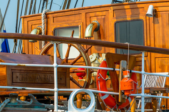 Chair Coastline Day Deck Docklands Docks Harbour Horizontal Lifebuoy Nautical Nautical Vessel No People Ocean Outdoors Sailing Ship Ship Ship Wheel Tall Ships Tall Ships Race Wooden