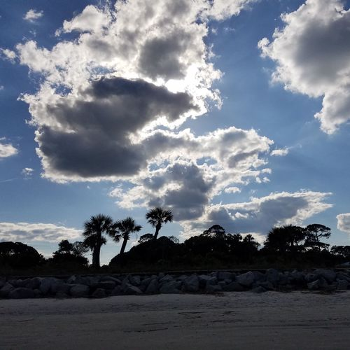 Jekyll Island Sky And Clouds Beach Georgia