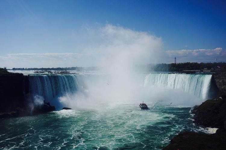 Adventure Beauty In Nature Day Long Exposure Motion Nature Niagara Niagara Falls Niagara Falls Canada No People Outdoors Power Power In Nature Powerful Scenics Sky Splashing Travel Travel Destinations Vacations Water Waterfall