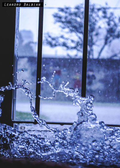 Agua Close-up Cold Temperature No People Sky Water Window Winter