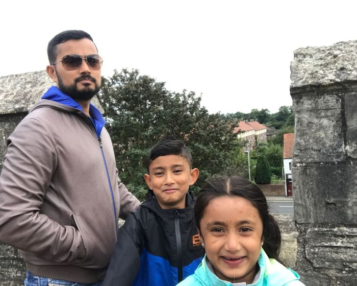 Portrait Looking At Camera Smiling Togetherness Family Father Child Happiness Outdoors Men Girls Love Real People Daughter Son Females Cheerful Bonding Day Childhood Adam Miah Amelia Miah