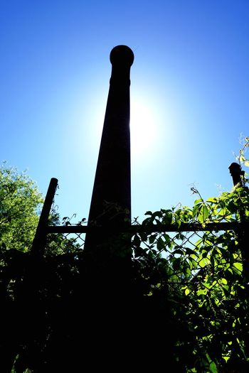 Abandoned mill Clear Sky Blue Built Structure Silhouette Outdoors Architecture Sky Growth Chimney Live For The Story The Architect - 2017 EyeEm Awards EyeEmNewHere Perspectives On Nature