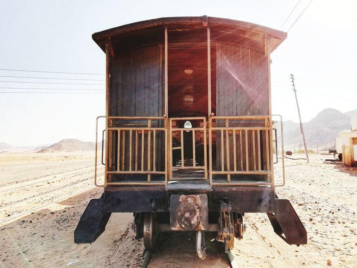 Old locomotive wagon