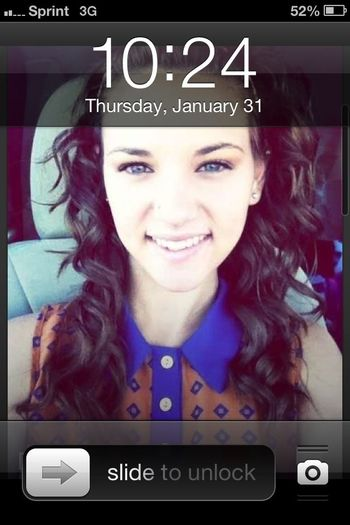 When Monica makes her picture as your wallpaper <<<< lol :)