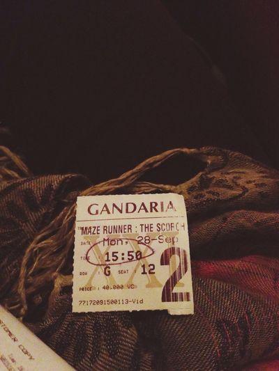 Watching A Movie MazeRunner 🎥🎥🎥 Favorite Relaxing GandariaCity