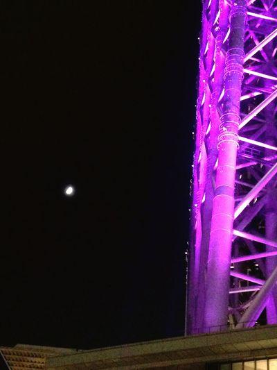 Night Photography EyeEmBestPics Tokyo Skytree Moon 月とスカイツリー