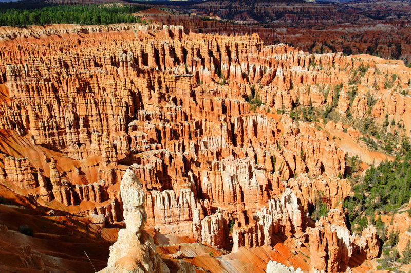 Panoramic view of rock formations