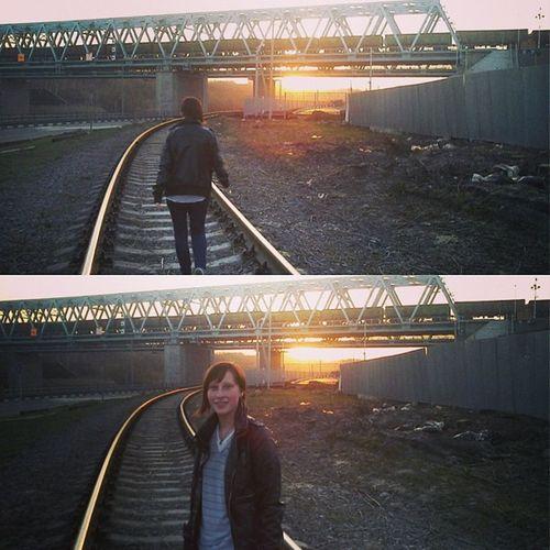 Instacollage РЖД Москва Sunset