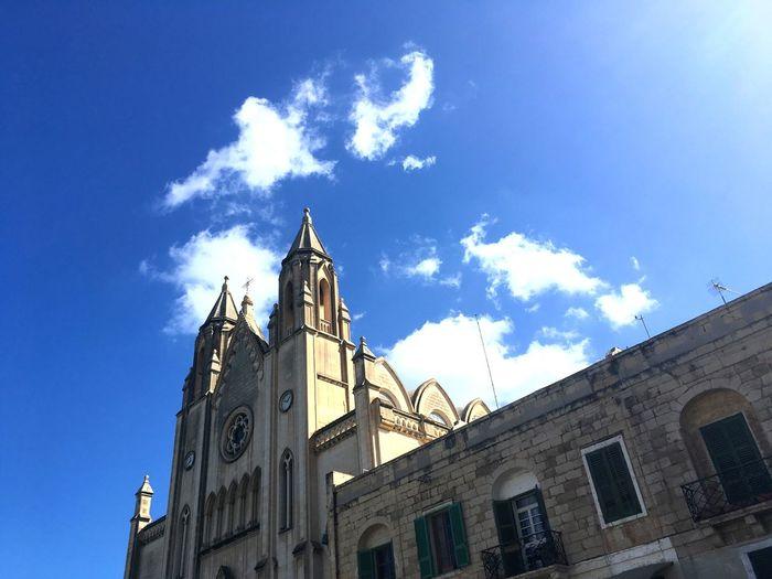 Church Malta Maltese Church Church In Malta Churches South Europe Architecture Building Exterior Built Structure Maltese Architecture Low Angle View Architecture Of Malta