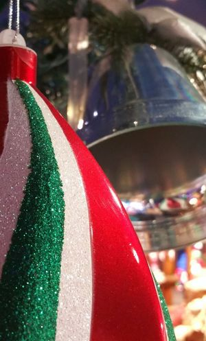 Chistmas Christmas Shopping Christmas Spirit Christmas Bell Christmas Cards Designs Happy Shopping Winter Celebration Christmas Christmas Card Christmas Decoration Christmas Ornament Festival Focus On Foreground Holiday Spirit Quebec, Canada Seasons Greeting Striped Ornament Yultide