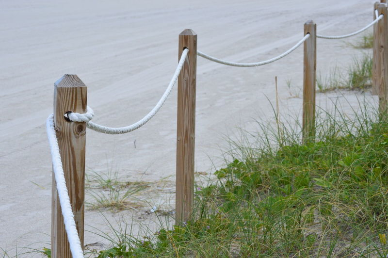 Fence near the beach side Amateurphotography Beach Beachphotography Greengrass Miami Poses Sand Southbeach Whiterope
