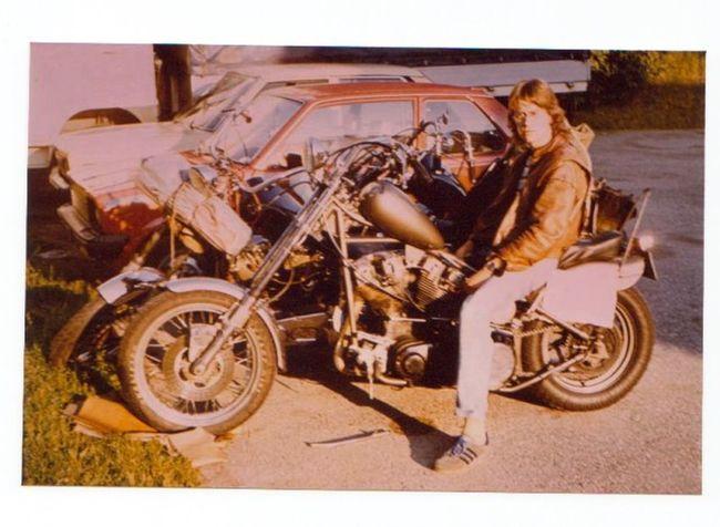 Polaroid Ich Damals Harley