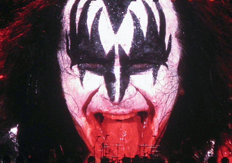 Kiss Concert Party All Night Rock'n'Roll Bands Concert Photography Gene Simmons