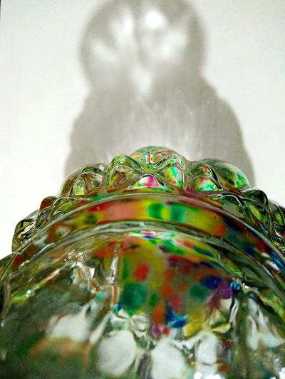 No People Multi Colored Close-up Day Refraction Outdoors Flower Vase On Table Colorful Stones At The Bottom Of The Glass Pattern Of Reflection Defocused Overhead View Reflection Water Childhood Indoors  Mobile Camera Shadow Of The Flower Vase Beautiful Reflections
