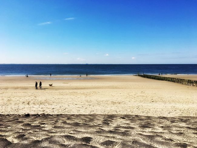 Zeeland❤️ Westkapelle Beach Sand Sea Horizon Over Water Nature Blue Beauty In Nature Water Clear Sky Outdoors Netherlands