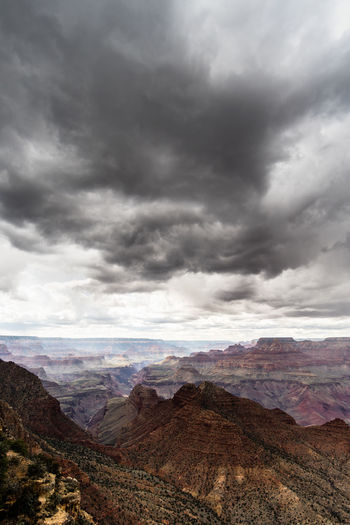 Spring storms over Grand Canyon National Park, USA Beauty In Nature Canyon Cloud - Sky Clouds D Day Desert Grand Canyon Landscape Mountain Mountain Range National Park Nature Nature No People Outdoors Scenics Sky Tranquil Scene Tranquility