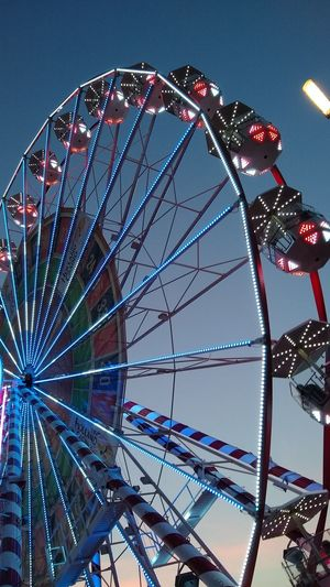Illuminated City Amusement Park Ride Arts Culture And Entertainment Clear Sky Big Wheel Sky The Creative - 2018 EyeEm Awards The Street Photographer - 2018 EyeEm Awards HUAWEI Photo Award: After Dark A New Beginning
