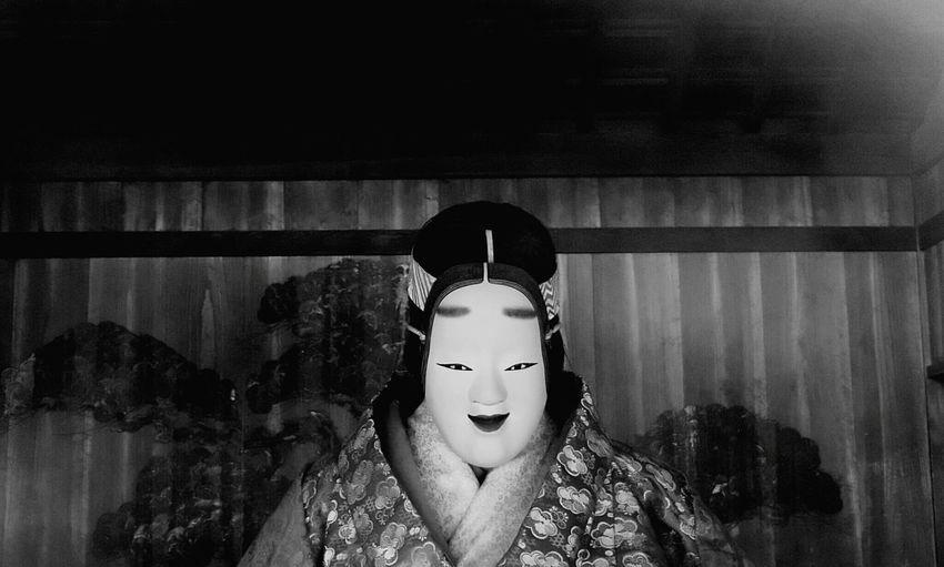Noh Noh Mask Mask Black And White Black & White Traditional 能 Monochrome