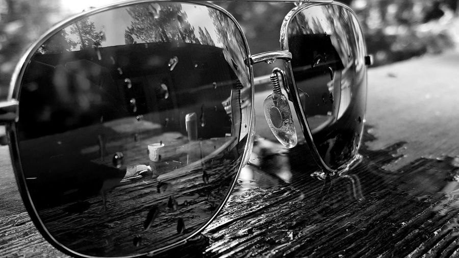 Close-up Day Truckee  Backporch Outdoors Clear Reflection Glasses Water Wet