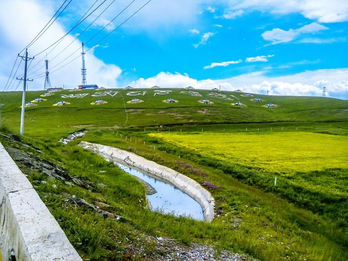Qinghai Lake Beautiful Nature Old Pic  Blue Sky Green Grass Original Experiences Sky And Clouds Find Beauty Anywhere You Can Riding My Bike Smartphone Photography Hahahaha 😂😂😂😂😂 Climb Up!