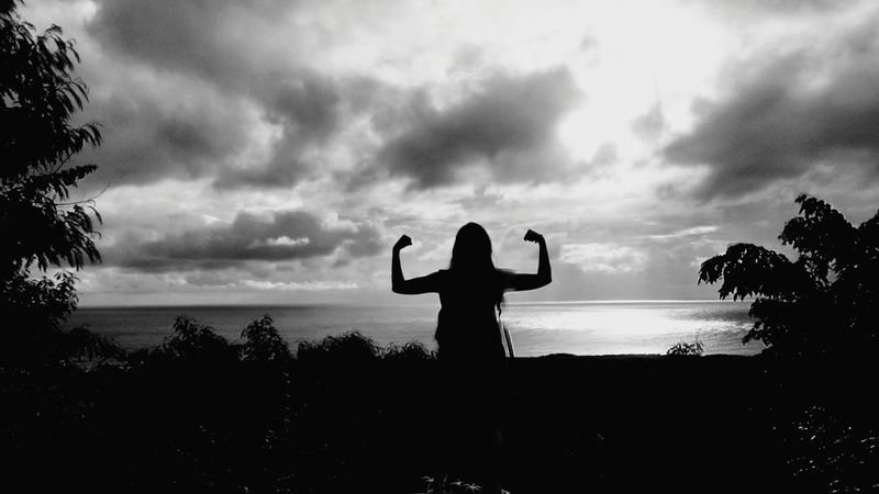 Turn the pain into power Philippines Bolinao, Pangasinan Strongwoman Stronger Filipina Women Of EyeEm God Is Great. Mobilephotography EyeEmNewHere Mobilephotography One Man Only Only Men Adults Only Adult Sky Standing Nature Human Body Part Outdoors