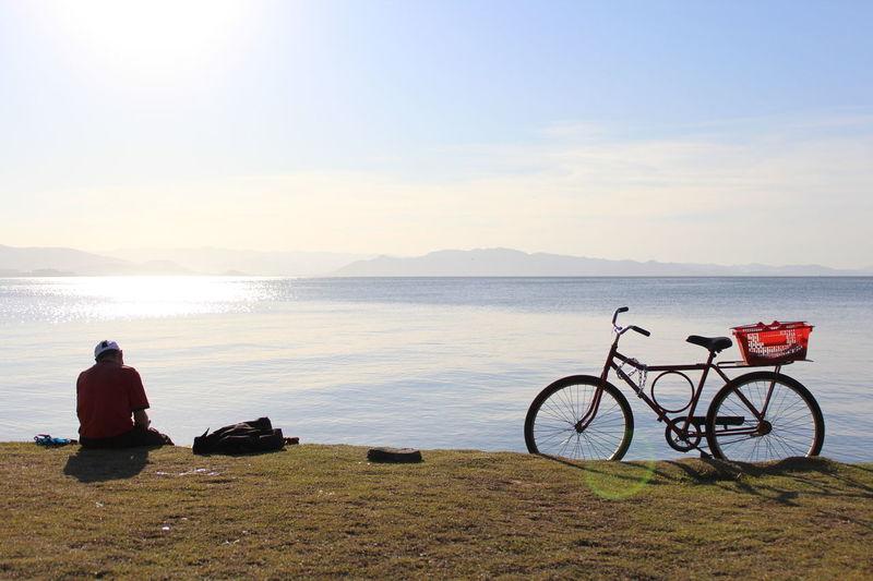 Bike Man Paisagem Floripa Florianópolis Brasil Life Ocean Mar