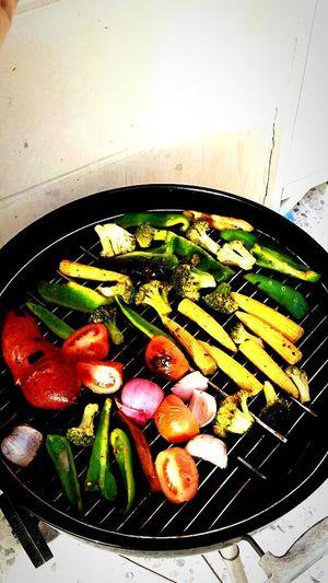 On A Health Kick bbq Fresh Veggies winter afternoon...yummy in my tummy:) Enjoying Life Relaxing