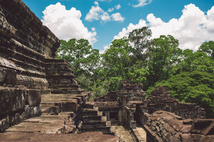 Siem Reap Cambodia Angkor Architecture History Built Structure Sky Ancient Place Of Worship The Past Travel Belief Nature Religion Tourism Old Ruin Cloud - Sky Building No People Ancient Civilization Tree Outdoors Archaeology Ruined