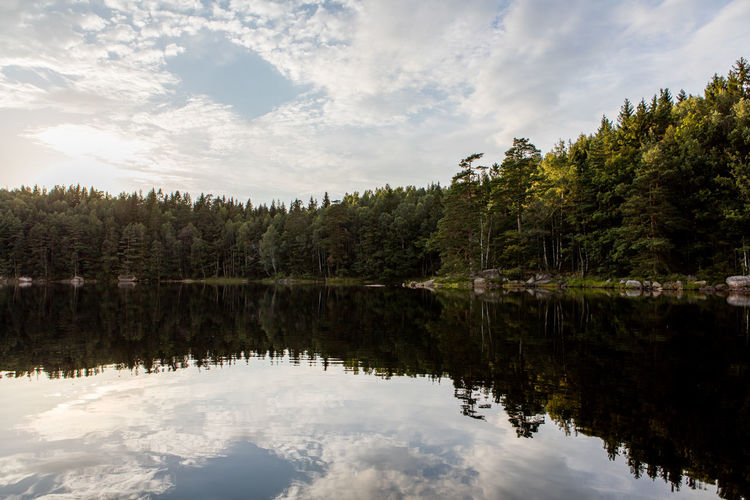 Beauty In Nature Cloud Cloud - Sky Countryside Idyllic Lake Nature No People Non-urban Scene Outdoors Scenics Sky Sweden Tranquil Scene Tranquility Water