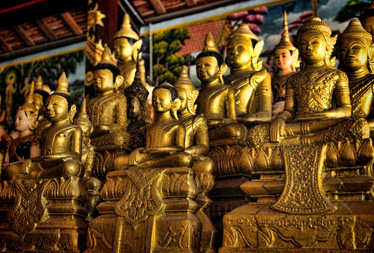 Architecture Buddism Buddist Temple Gold Colored Place Of Worship Religion Sculpture Shrines & Temples Spirituality Statue