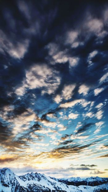 Cludscapes Cloud - Sky Mountain Sunset Nature Landscape Blue Outdoors Winter Beauty In Nature
