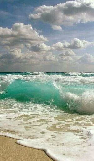 Beach Sea Wave Sand Water Cloud - Sky Beauty In Nature Nature Scenics Sky Travel Destinations Landscape Day No People Outdoors Sunlight Vacations Beauty Horizon Over Water Freshness Bubbles Beauty In Nature Pebble Beach