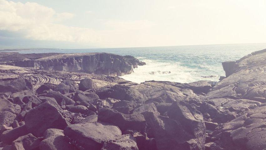 Napo'opo'o Hawaii Beach Lava Rocks