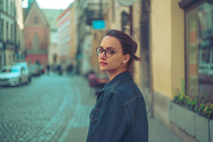 Architecture Beautiful Woman Building Exterior Built Structure City Day Eyeglasses  One Person Outdoors People Real People Standing Street Young Adult Young Women