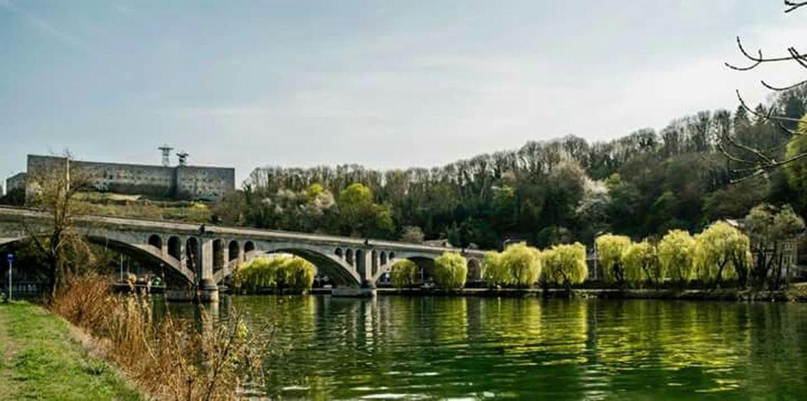 Huy Belgium. Belgique. Belgie. Belgien. Etc. Nature Meuse Pont