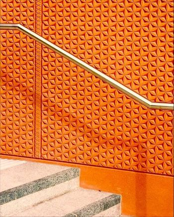 Near King's Cross Pattern Architecture No People Flooring Wall - Building Feature Built Structure Orange Color