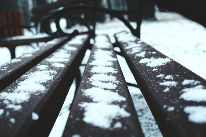 Snow ❄ Winter Bench