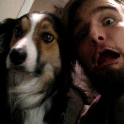 Selfie with my dog a couple of weeks ago Bordercollie  Bordercolliesofinstagram Selfie Puppy dog