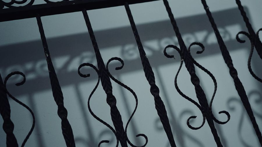 Close-up of metal fence